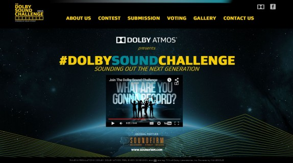 Dolby Sound Challenge Website